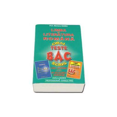 Bacalaureat Oral si Scris - Teste. Limba si literatura romana. Carti Antistres pentru un Bacalaureat Confortabil