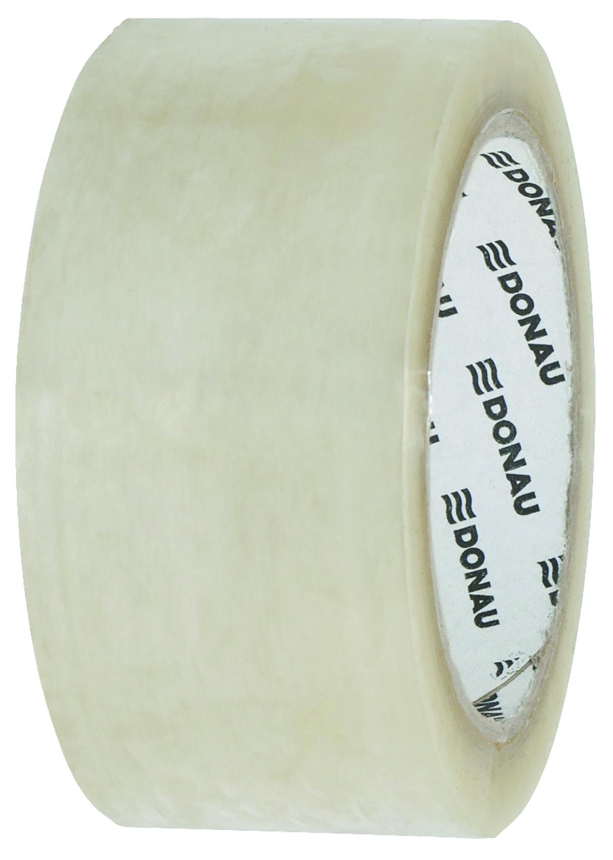 Banda adeziva, transparent,  48mm x 66 m, 46 microni, pe baza de solvent, Donau