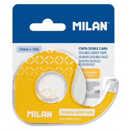 Banda adeziva dubla 15X10 cu suport Milan