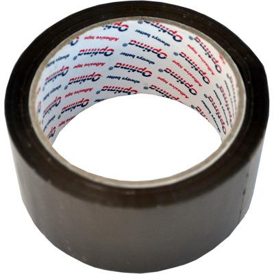 Banda adeziva, maro,  72mm x 66 y, 38 microni, Optima