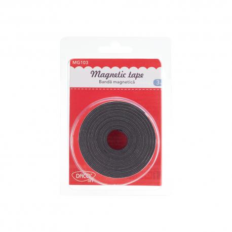Banda magnetica autoadeziva 2 cm X 3 m Daco