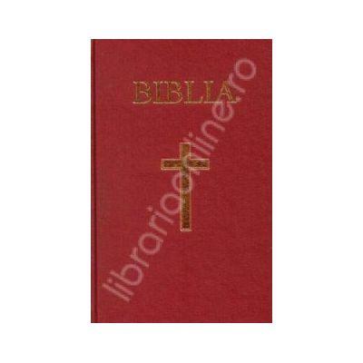Biblia cu coperta cartonata pe culoarea grena, aurita (50828)