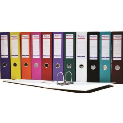 Biblioraft A4, plastifiat PP/paper, margine metalica, 75 mm, Optima Basic - bleumarin
