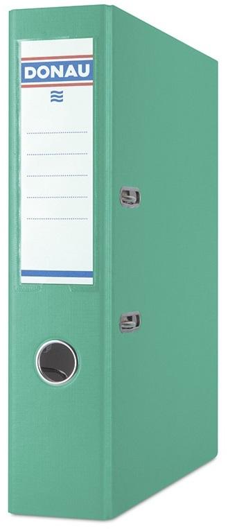 Biblioraft A4, plastifiat PP/PP, margine metalica, 75 mm, Donau Premium - turcoaz