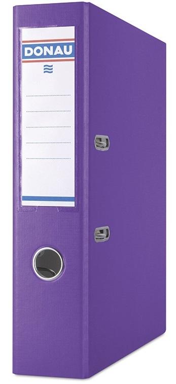 Biblioraft A4, plastifiat PP/PP, margine metalica, 75 mm, DONAU Premium - violet
