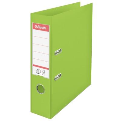 Biblioraft A4, plastifiat PP/PP, margine metalica, 75 mm, Esselte No. 1 Power - verde vivida