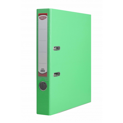 Biblioraft plastifiat 50 mm Daco, verde-turcoaz