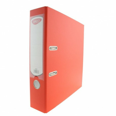 Biblioraft plastifiat 75 mm Daco portocaliu