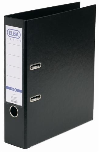 Biblioraft A4, plastifiat PP/PP, margine metalica, 80 mm, ELBA Smart Pro+ - negru