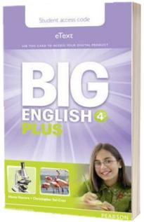 Big English Plus 4. Pupils eText Access Card