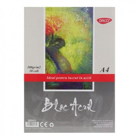 Bloc A4 acril 300g 10 file, Daco BD431