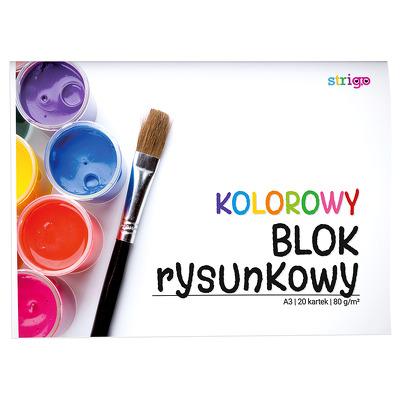 Bloc de desen Strigo A3 20 file 80G multicolor