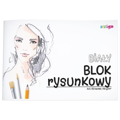Bloc de desen Strigo A4 50 file 90G alb