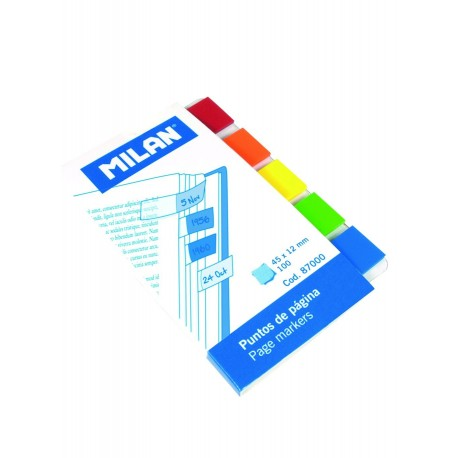 Post-it adeziv index, 5x45x12, transparent, Milan