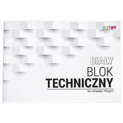 Bloc tehnic Strigo A4 10 file 170G alb