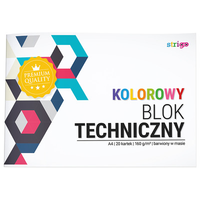 Bloc tehnic Strigo A4 20 file 160G multicolor
