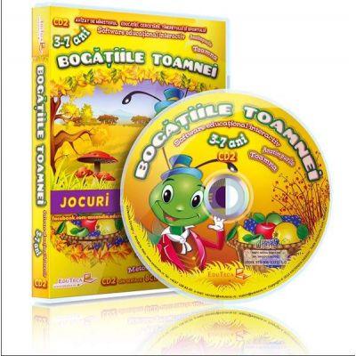 Bogatiile toamnei. Jocuri educationale 3-7 ani, CD 2 (Colectia Eduteca)
