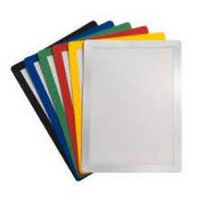 Buzunar magnetic pentru documente A4, cu rama color, verde, 2 buc/set, Jalema