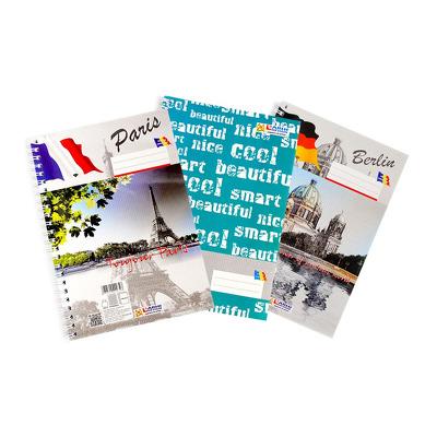 Caiet A5, 100 file, spiralizat, liniatura matematica, Arhi Design
