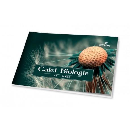 Caiet biologie A4 24 file, Ecada