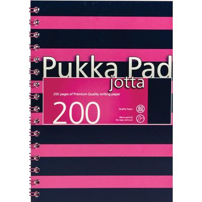 Caiet cu spirala Pukka Pads Jotta Navy A5 dictando roz