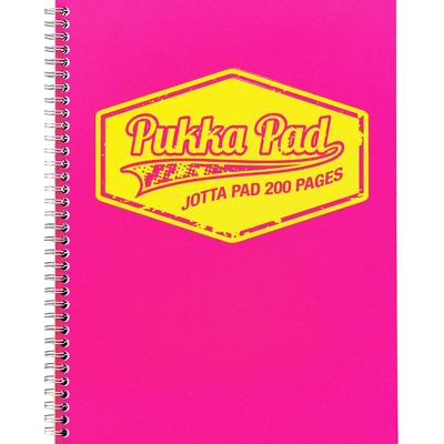 Caiet cu spirala Pukka Pads Jotta Neon A4 dictando roz
