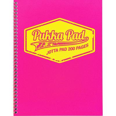 Caiet cu spirala Pukka Pads Jotta Neon A4 matematica roz