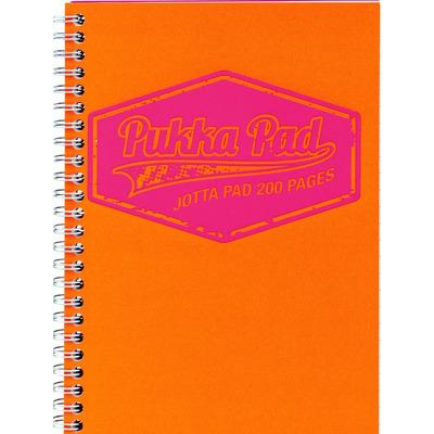Caiet cu spirala Pukka Pads Jotta Neon A5 dictando portocaliu