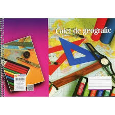 Caiet de geografie A4, 32 file, spiralizat, Arhi Design