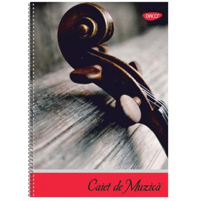 Caiet de muzica A4, 24 file spira