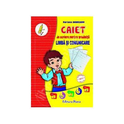 Caiet de scriere pentru gradinita Limba si comunicare
