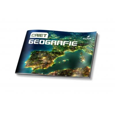 Caiet geografie A4 24 file policromie, Ecada