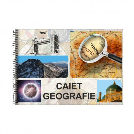 Caiet geografie A4 24 file spira DACO