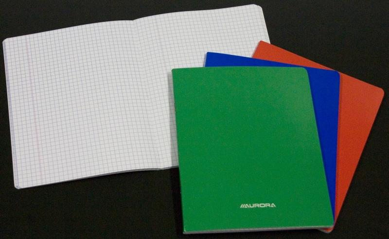 Caiet matematica A5, 36 file, liniat stanga, coperta carton laminat, Aurora