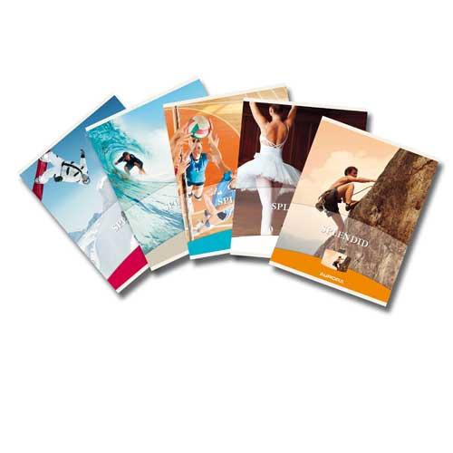 Caiet matematica Splendid, A5, 48 file, liniat stanga, coperta imagini sport, Aurora