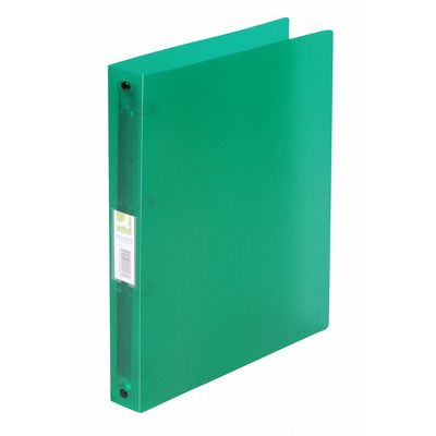 Caiet mecanic 4 inele - D25mm, coperti flexibile PP, Q-Connect - verde transparent