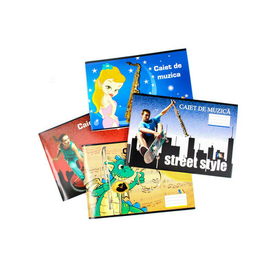 Caiet muzica, 24 file, Arhi Design
