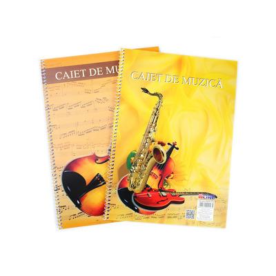Caiet muzica A4 32 file Diamond Line, hartie 70 g/mp