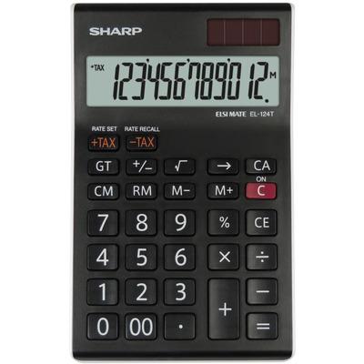 Calculator de birou Sharp - negru/alb. 12 digits.