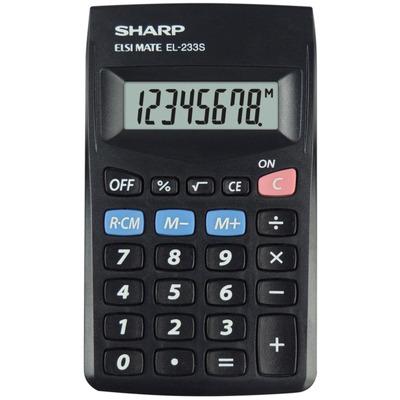 Calculator de buzunar, 8 digits, 103 x 60 x 8 mm, Sharp EL-233SBBK - negru