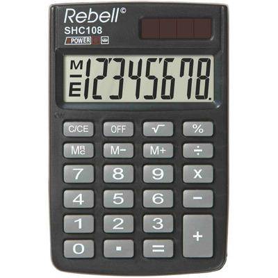 Calculator de buzunar, 8 digits, 88 x 59 x 10 mm, capac din plastic, Rebell SHC108