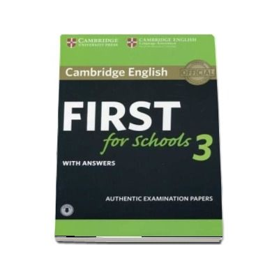 Cambridge english first for schools 3. Students book with answers with audio