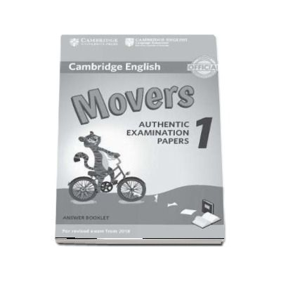 Cambridge English Movers 1 for Revised Exam from 2018 Answer Booklet : Authentic Examination Papers