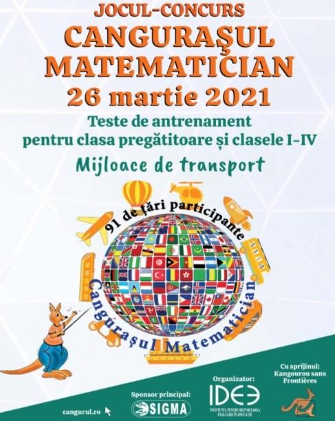 Cangurasul matematician, clasa pregatitoare si clasele I-IV