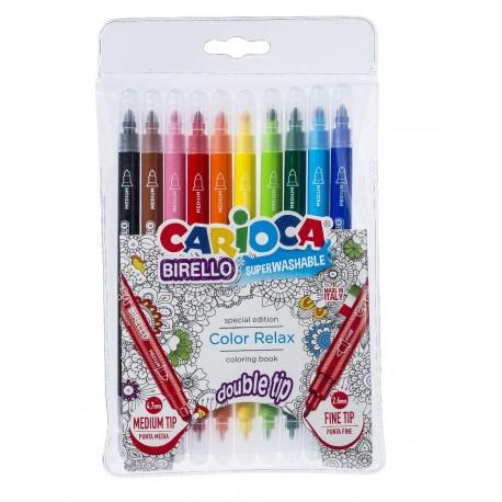 Carioca 10 culori 2 capete Birello PENSAN