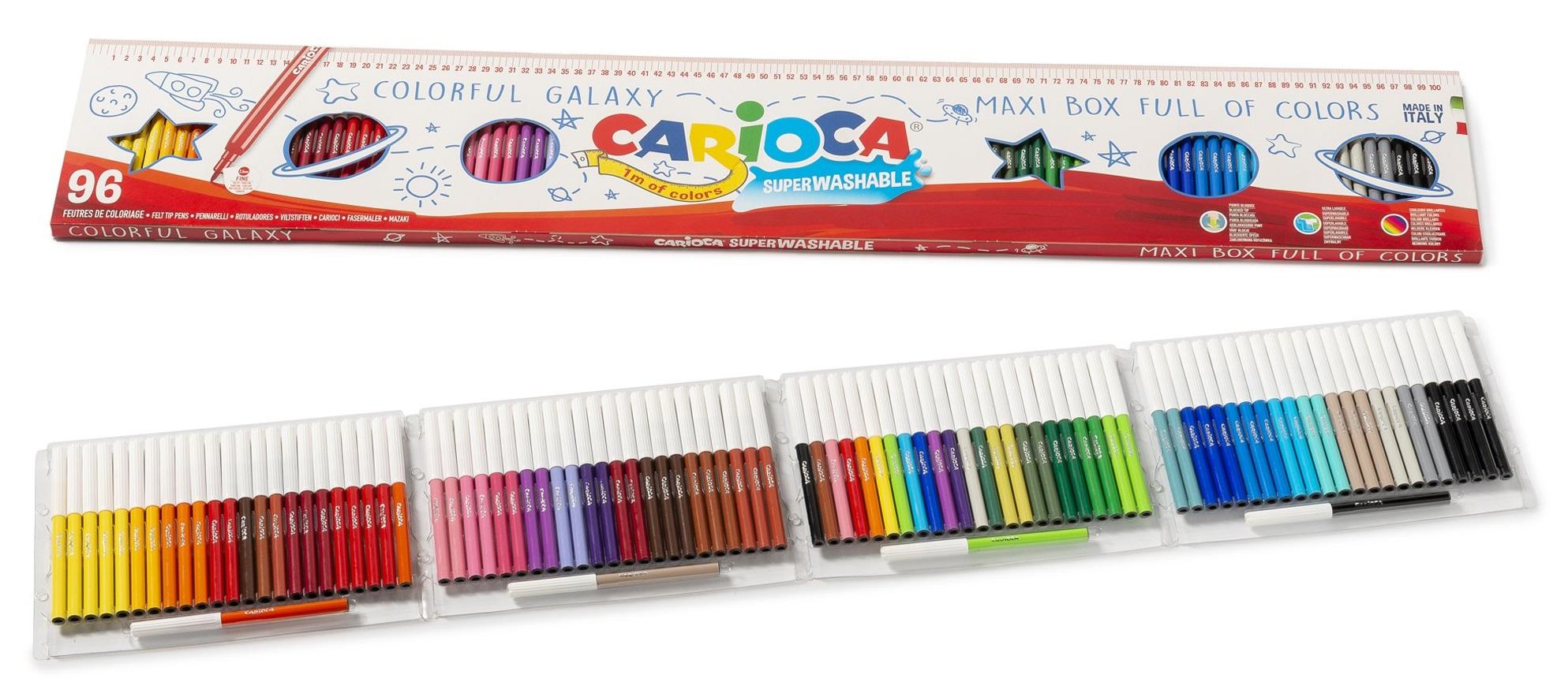 Carioca super lavabila, varf subtire - 2.2mm, 96 culori/cutie, Carioca Joy - 1 metru de carioci