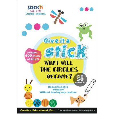 Carte creativa Stickn Circle - cercuri neon asortate