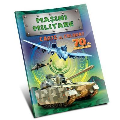 Carte de colorat cu masini militare