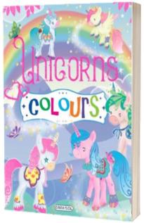 Carte de colorat. Unicorns Colours, mov