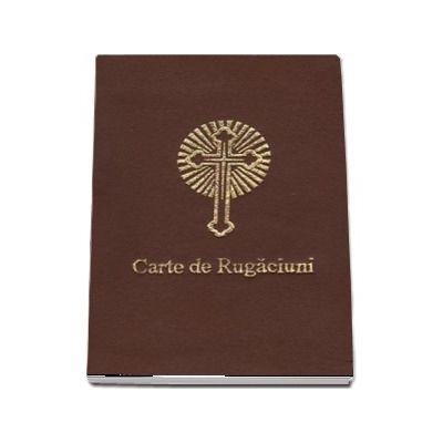 Carte de rugaciuni scris mare, fermoar, legata in piele